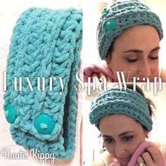 Luxury Spa Wrap Crochet Pattern by Haute Kippy - Stitch and Unwind ~ FREE - CROCHET