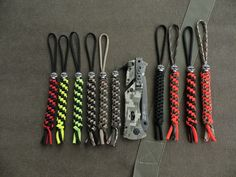 Make Your Own Paracord Cord Locks And Knife Lanyards This is actually really handy for an EDC knife or a regular knife, these make it easier to hold and get out of pockets or sheaths #shtf #preparedness #paracord