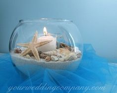 island wedding centerpiece