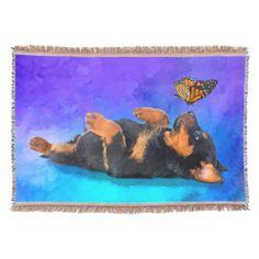 Rottweiler  - Metzgerhund Puppy with butterfly Throw Blanket   rottweiler humor, lab rottweiler mix, two rottweilers #rottweiler #rottweilerdog #rottweilerlife Rottweiler Puppies, Winnie The Pooh, Disney Characters, Fictional Characters, Butterfly, Rottweilers, Blanket, Pets, Lab