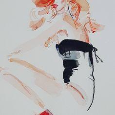 Have a dirty dreams tonight. Like I do. 🖌 - detail from fashion illustration by Karolina Niedzielska