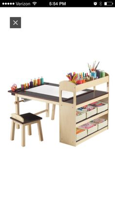 "Homework and art desk... I'm putting this on my ""kids"" board, but let's be honest: I want it for myself!"