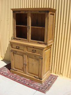 Antique Furniture Antique Primitive Pine Cabinet Hutch Jelly Cabinet Antique Kitchen Cupboard