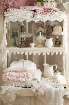 Image detail for -Don't hide your pretty lace & linens. Find lovely ways to display ...