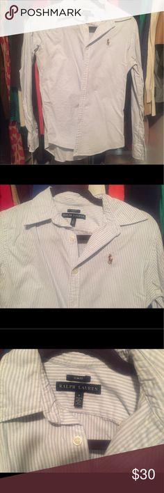 Ralph Lauren Slim Fit blue & white button down Ralph Lauren Slim Fit blue & white button down Ralph Lauren Tops Button Down Shirts