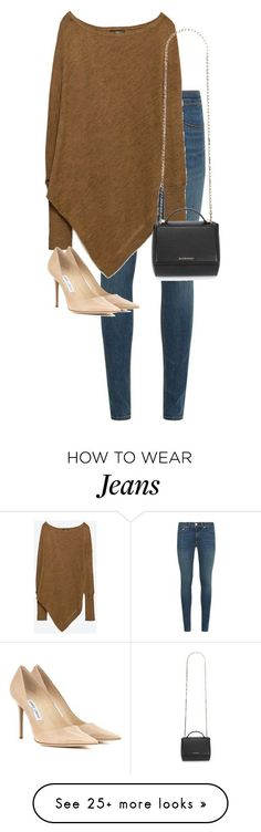 """Untitled #10516"" by alexsrogers on Polyvore featuring rag & bone, Zara, Jimmy Choo and Givenchy"