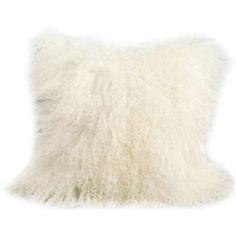 """I do think we should get some of these for the upstairs room.  Two for the couch and one on each side chair.  Would bring in that mid-century shag rug vibe - Mongolian Sheep Fur Throw Pillow 16X16"""""""