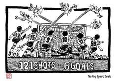 The Kop Sport Comic :1-10-2017 : black ink drawing Illustration #Liverpool #TheKopArtsStudio #liverpoolfc #football #thisisanfield #lfc