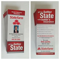 State farm insurance business card printifycards state farm renters insurance rack cards colourmoves Image collections