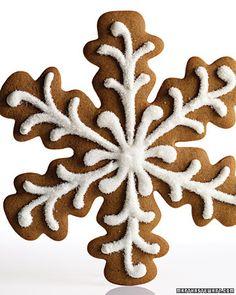 Gingerbread cookie snowflakes