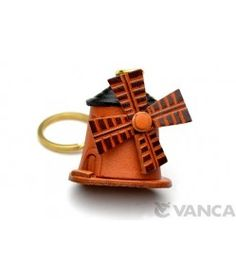 Windmill Leather Keychain(L)