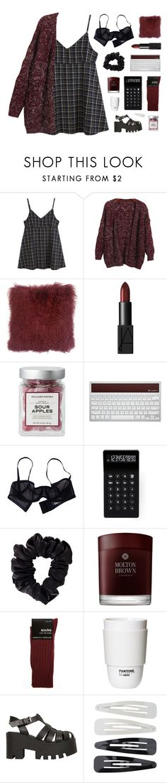 """「60.」"" by moonbeam-s ❤ liked on Polyvore featuring Chicnova Fashion, NARS Cosmetics, Logitech, Eres, LEXON, American Apparel, Molton Brown, Dorothy Perkins, ROOM COPENHAGEN and Windsor Smith"