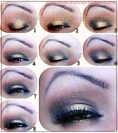 black and gold smokey eyes tutorial http://more-than-makeup.blogspot.it/