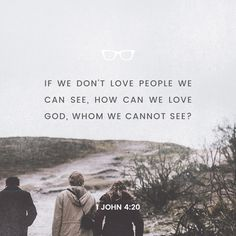"""If someone says, ""I love God,"" but hates a fellow believer, that person is a liar; for if we don't love people we can see, how can we love God, whom we cannot see?"" ‭‭1 John‬ ‭4:20‬ ‭NLT‬‬ http://bible.com/116/1jn.4.20.nlt"