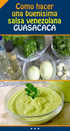 Como hacer una buenísima salsa venezolana. GUASACACA Sauce Recipes, New Recipes, Cooking Recipes, Healthy Recipes, Healthy Foods, Boricua Recipes, Venezuelan Food, Ribs On Grill, Mexican Food Recipes