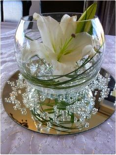 Bowl Decoration Ideas Fishbowl  Flowers  Pinterest  Fishbowl Centerpieces And Table