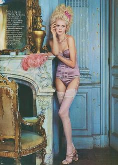 """""""Petit Trianon"""": Anna Ilnytska as Marie Antoinette in Lingerie by Pascal Chevallier for Vanity Fair Italia   The Terrier and Lobster"""