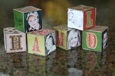 {Homemade Block Ornaments}