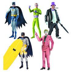 May be worth it just for Batman in a swimsuit figure - Batman Classics 1966 TV Series Figures. Batman Tv Show, Batman Tv Series, Batman And Batgirl, Batman 1966, Riddler, Favorite Tv Shows, Retro Fashion, Action Figures, Swimsuit