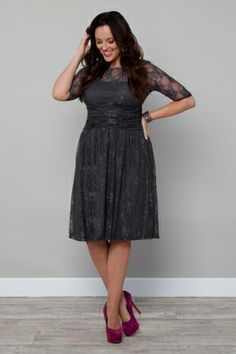 Luna Lace Dress-TWILIGHT GREY $168