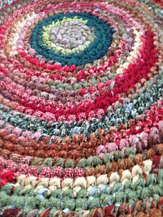 Handmade Crocheted Country Rag Rug by PinkHeartRagRugs on Etsy, $105.00