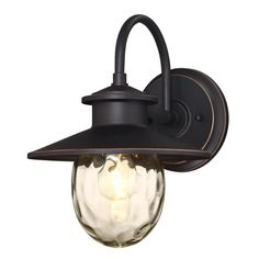 Delmont Oil Rubbed Bronze 1 Light With Highlights Outdoor Wall Mount Lantern