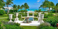 Beautiful garden. Sandals Resort, Emerald Bay, Exuma, Bahamas.