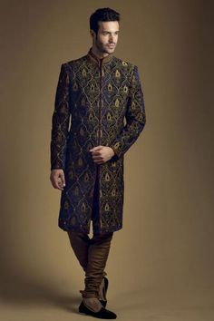 Latest Sherwani Trends for Grooms - Dual shade sherwani.