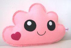 Cloud Pillow Pink Soft Cloud Pink Nursery Nursery by LilyRazz