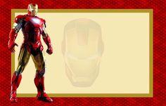 Iron Man: Invitaciones para Imprimir Gratis.