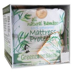 Bamboo Viscose Terry Mattress Protector with 2 King Pillow Protectors by Dreamtex Home - BAMTERRY-2KPP-TWIN