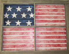 Upcycled Window Pane Flag