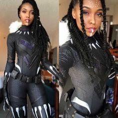Shuri Black Panther cosplay by Cutiepiesensei Cosplay Badass Halloween Costumes, Black Girl Halloween Costume, Halloween Kostüm, Halloween Outfits, Cute Cosplay, Cosplay Outfits, Cosplay Girls, Cosplay Costumes, Simple Cosplay