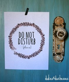 do not disturb printable sign  #ad #DISCOVERBROOKSIDE