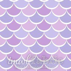 Woven Fabric - David Textiles Lilac Noveau Scales - Half Yard +