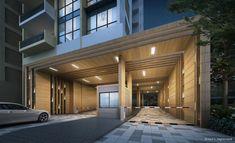 Porte Cochere, Entrance Design, Facade Design, Entry Gates, Entrance Doors, Guard House, Canopy Lights, Parking Design, Condominium