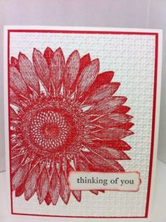 Great look to Sunflower stamped & then embossed with Square Lattice folder.