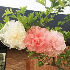 Lelia Flower Hair Clip - Pink, Peach, Cream