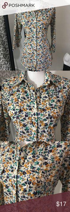 Eden & Olivia floral print long sleeve top M eden & olivia Tops