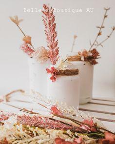 White rustic shabby chic distressed vintage look jars vases | Etsy