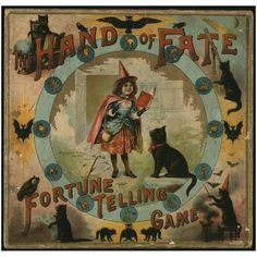From reading tea leaves to roasting hickory nuts, fortune-telling games are a long-time tradition in American history. Try some of them at our annual Halloween party! Vintage Cat, Vintage Toys, Vintage Black, Vintage Halloween, Fall Halloween, Happy Halloween, Halloween 2020, Halloween History, Vintage Board Games