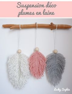 Diy Pompon, Diy Laine, Homemade Gifts, Macrame, Diy And Crafts, Crochet Earrings, Feather, Lyon, Couture