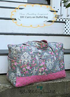 Vera Bradley inspired DIY Carryon Duffel Bag. Duffle Bag PatternsBag  Patterns To SewDiy ... dc31470c93