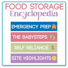 EVERYTHING you could ever want to know about Food Storage and Emergency Preparedness. SAVE THIS!