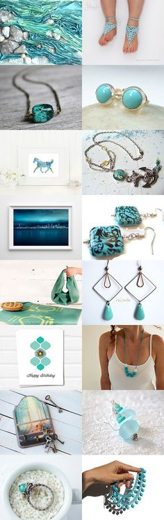 Turquoise september morning... by zhaviknit on Etsy--Pinned with TreasuryPin.com