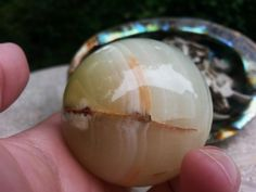 Pakistani Onyx Sphere ~ One Reiki Infused gemstone sphere with stand approx 2 inches (005)