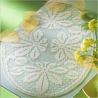 crochet em revista: Naperons ovais