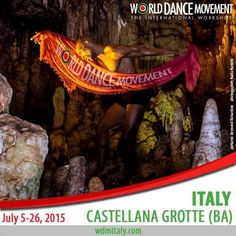 World Dance Movement Italy - The International Workshop at Artinscena di Annalisa Bellini,Via Serritella, 10, 70013 Castellana Grotte BA, Italy on 5th - 26th July, 2015 at 9am - 11pm. Join us at the 7th edition of World Dance Movement Italy. You can dance with us 1-2 or all 3 weeks! Bridging Cultures Through Dance with world-renowned artists and dancers from over 25 countries. Facebook: http://atnd.it/20228-1 Twitter: http://atnd.it/20228-2 YouTube: http://atnd.it/20228-3 Prices:$200 - $610.