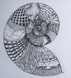 Mooie zentangle door Deborah. Kijk ook eens op ons blog! #Zentangle