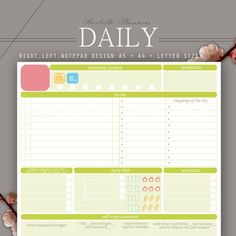 DAILY PLANNER A5 A4 Letter size printable by BorbolloPlanners